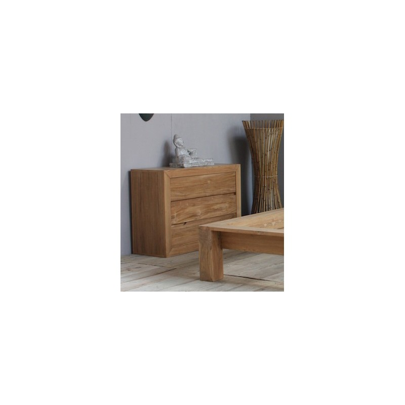 commode 3 tiroirs en teck naturel pas cher en vente chez origin 39 s meubles. Black Bedroom Furniture Sets. Home Design Ideas