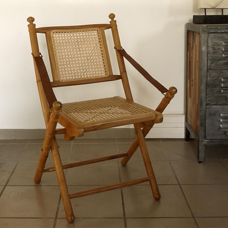 Chaise pliante teck pas cher en vente chez origin 39 s meubles for Chaise longue teck pas cher