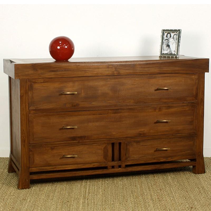 commode japan en teck pas cher en vente chez origin 39 s meubles. Black Bedroom Furniture Sets. Home Design Ideas