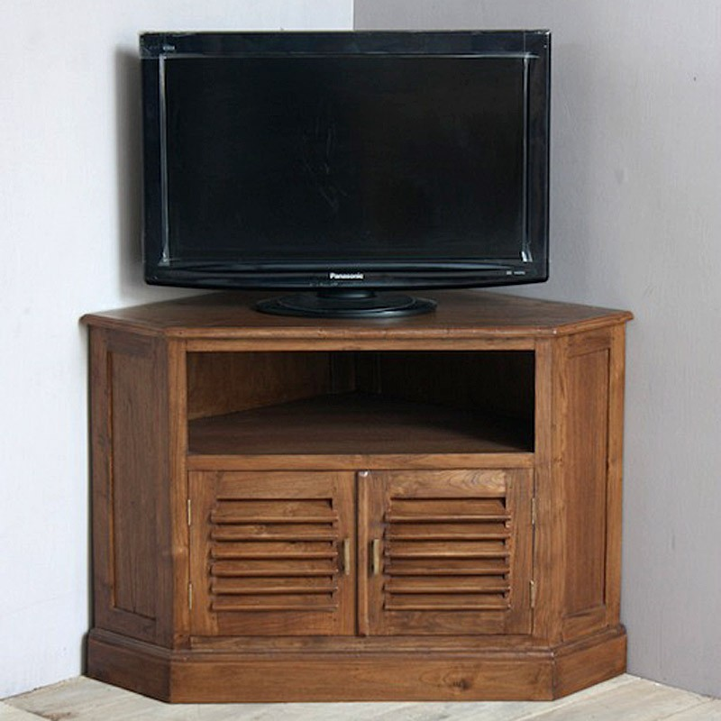 meuble tv d 39 angle en teck pas cher en vente chez origin 39 s meubles. Black Bedroom Furniture Sets. Home Design Ideas