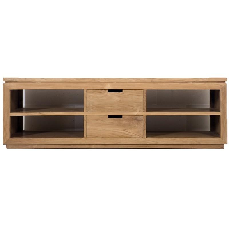 Meuble tv en teck city pas cher en vente chez origin 39 s meubles for Meuble tv teck pas cher