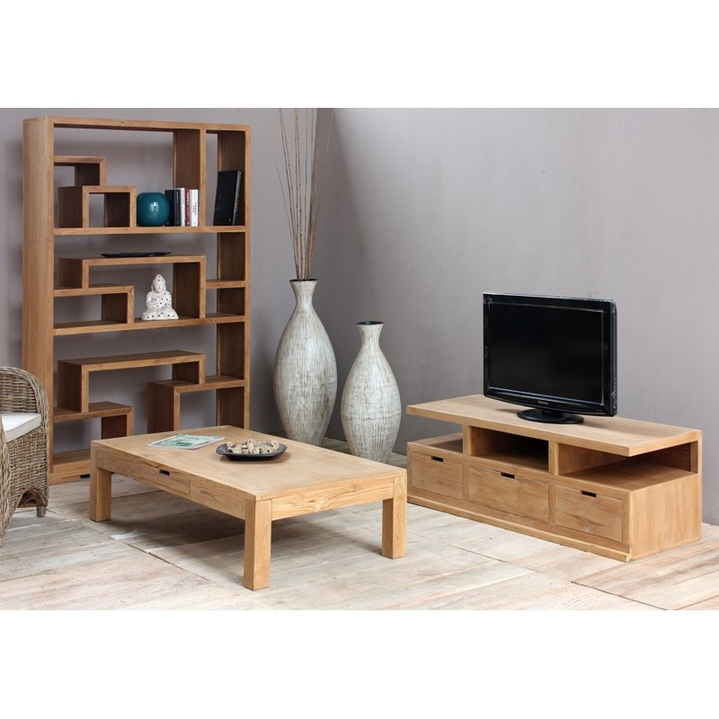 meuble tv en teck city pas cher origin 39 s meubles. Black Bedroom Furniture Sets. Home Design Ideas