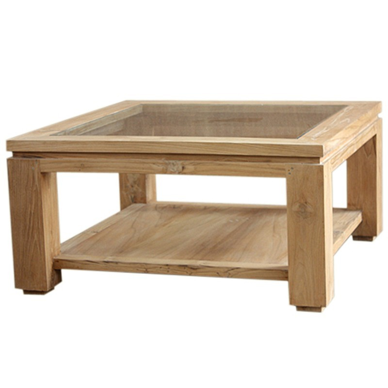 Table basse moderne en teck massif en vente chez origin 39 s for Table basse en teck massif