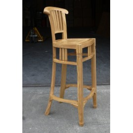 Tabouret de bar teck Naturel