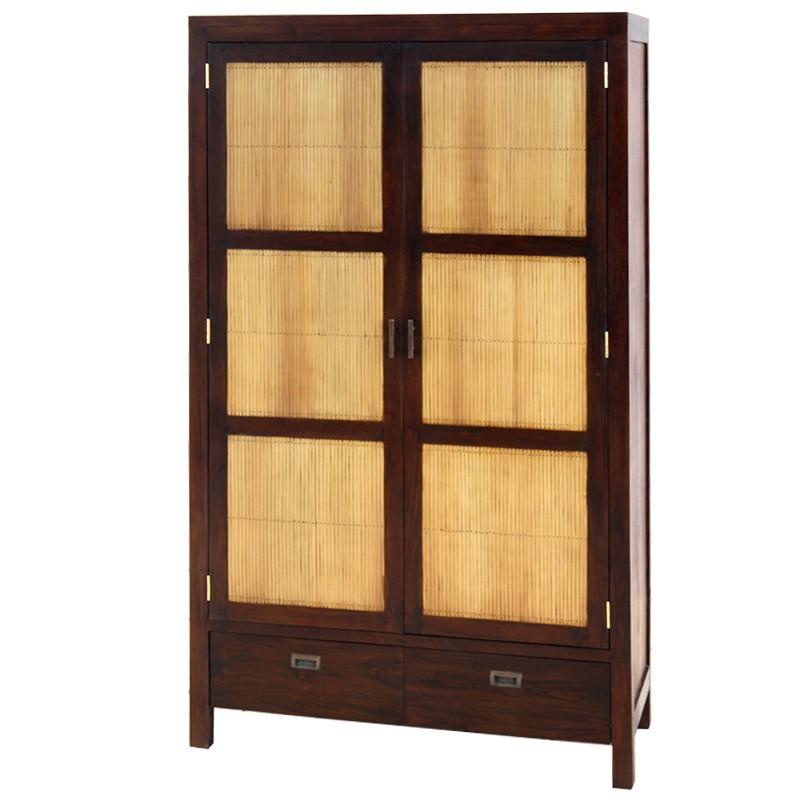 superbe armoire teck et bambou en vente chez origin 39 s meubles. Black Bedroom Furniture Sets. Home Design Ideas