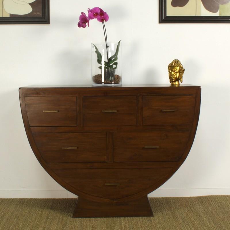 commode originale en teck in line pas cher origin 39 s meubles. Black Bedroom Furniture Sets. Home Design Ideas