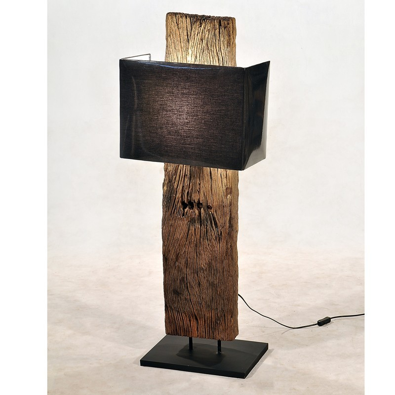 Lampadaire Bois Pas Cher : Lampadaire bois de chemin de fer 1 abat jour pas cher en vente chez