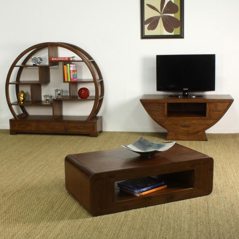 Meuble tv demi lune en teck in line pas cher origin 39 s meubles - Meuble tv en teck ...