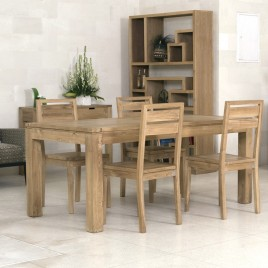 Table repas teck Naturel Ankor