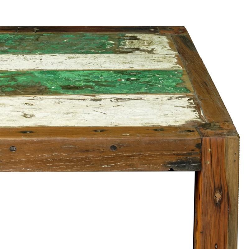 Table basse bois bateau recycle - Table basse cube bois ...