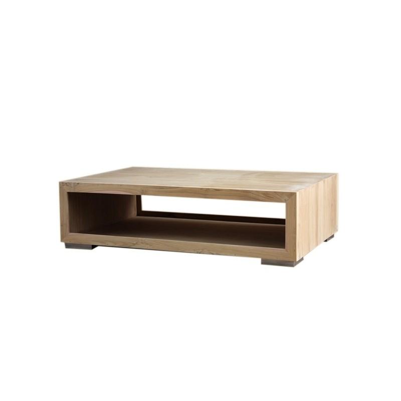 Table basse lounge en teck recycl en vente chez origin 39 s - Table basse longue ...