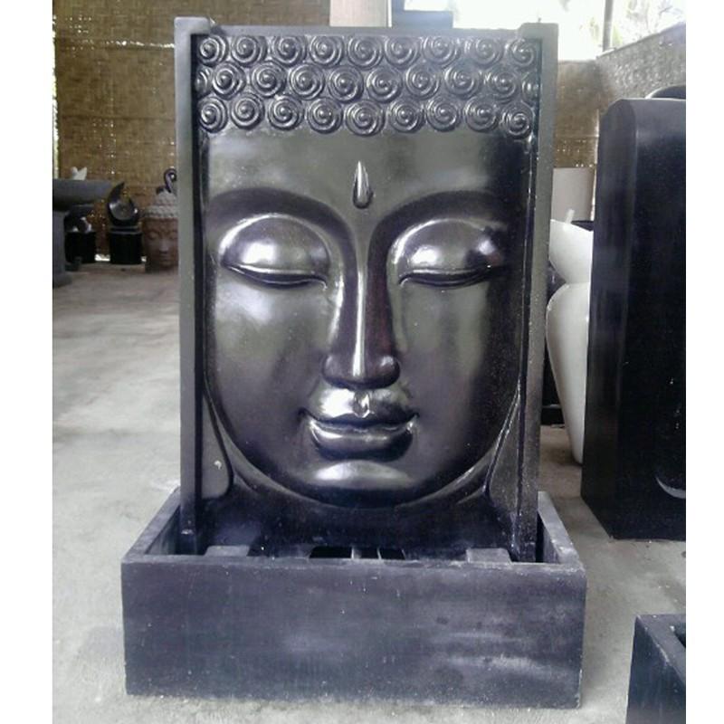 Fontaine terrazo face bouddha pas cher en vente chez for Fontaine exterieur bouddha