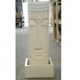 Fontaine haute Face Bouddha Terrazo