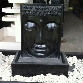 Fontaine Terrazo face bouddha Noire