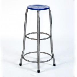 Tabouret de bar Atelier assise fer bleu