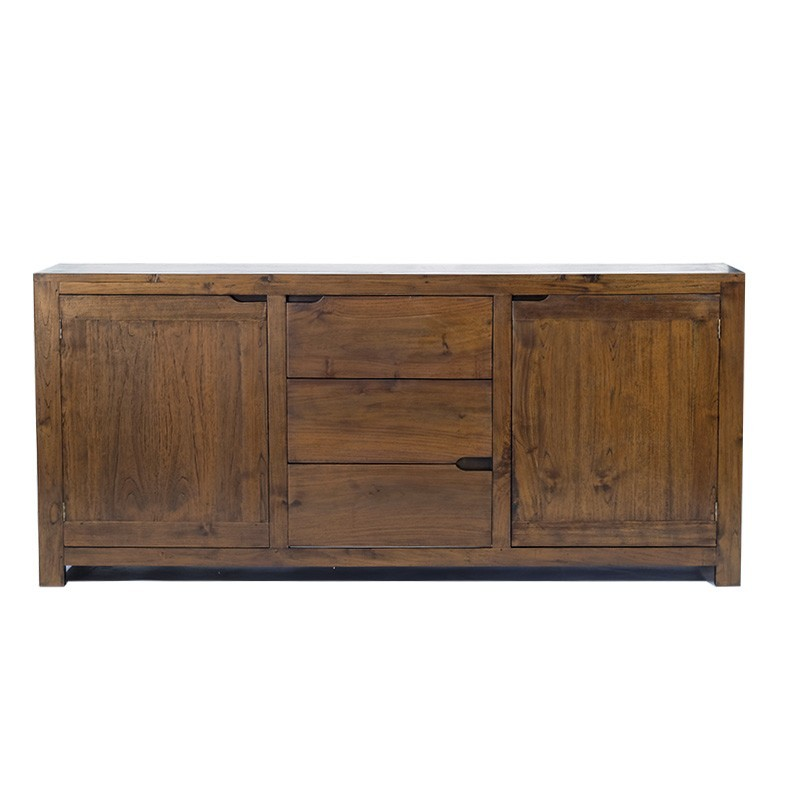original buffet en teck timor. Black Bedroom Furniture Sets. Home Design Ideas