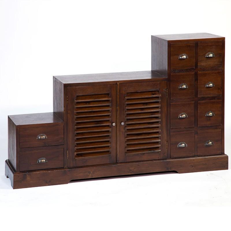 Magnifique meuble tv escalier en teck antik pas cher en - Meuble tv teck pas cher ...