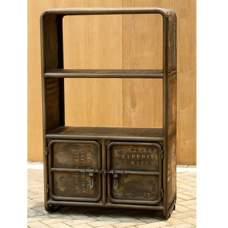 biblioth que industriel 2 portes sabah pas cher en vente. Black Bedroom Furniture Sets. Home Design Ideas