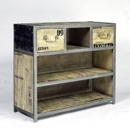 Bar Industriel Ego 2 tiroirs