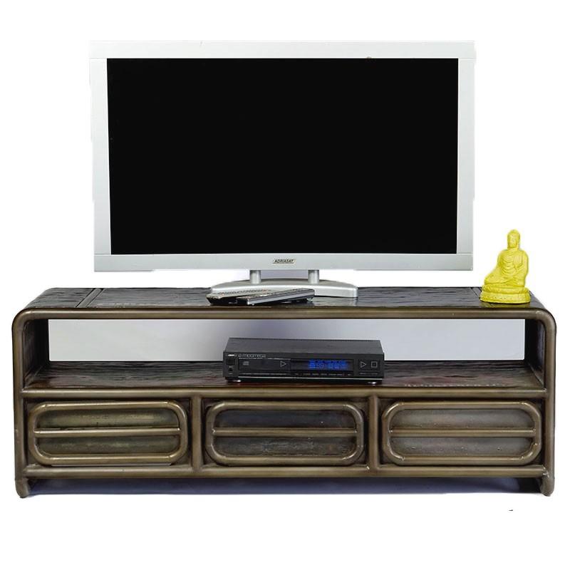 Meuble tv industriel sabah pas cher en vente chez origin 39 s - Meuble tv style industriel pas cher ...