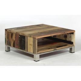 Table basse industrielle Atlantique bois de bateau recyclé