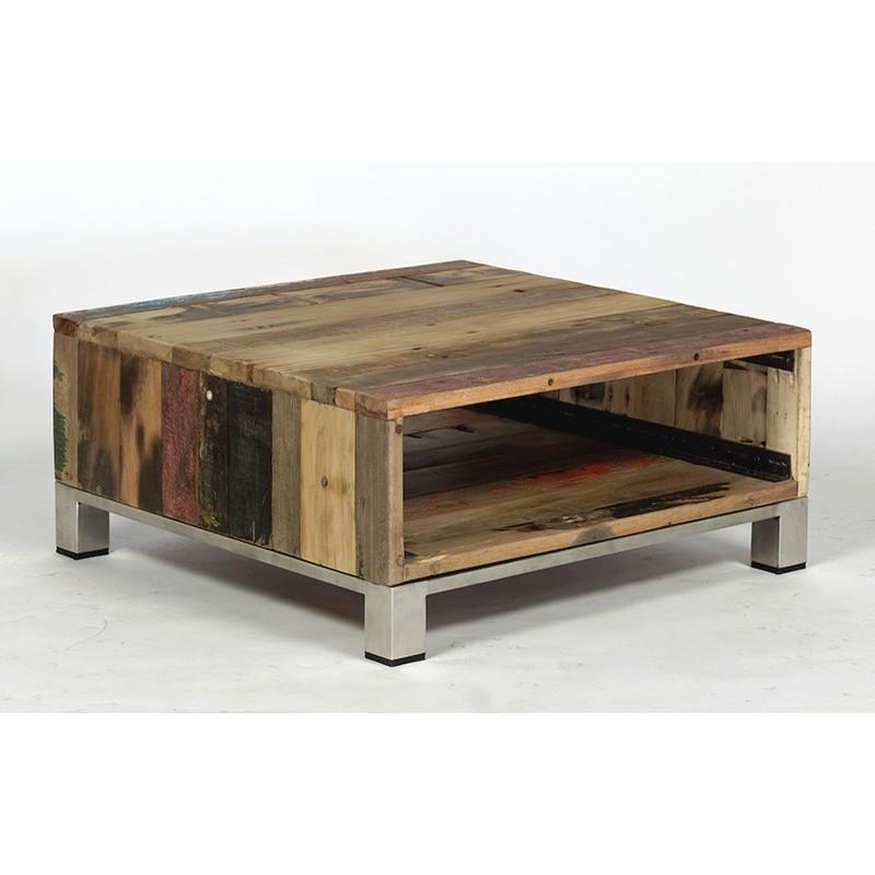 Table basse atlantique bois de bateau recycl pas cher - Table basse en bois pas cher ...