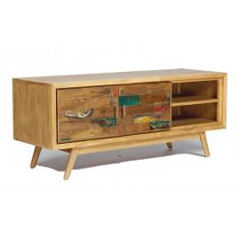 N° 2.2 - Meuble TV teck et bois de bateau FANCY