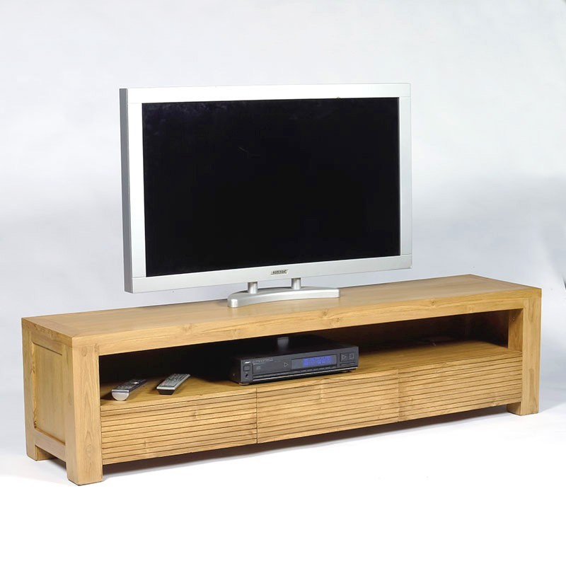meuble tv design en teck macao en vente chez orgin 39 s maison. Black Bedroom Furniture Sets. Home Design Ideas