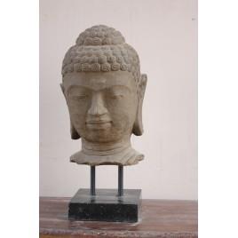 Tête bouddha sur socle