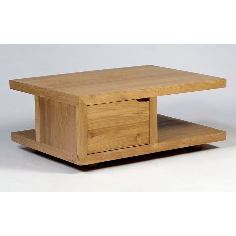 Table basse teck rectangulaire City