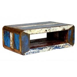 Table basse Vintage Bois de bateau recyclé
