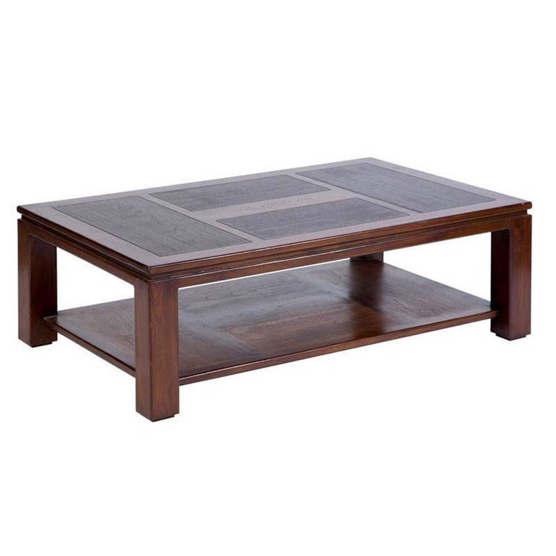 Originale Table basse en teck bicolore Halong
