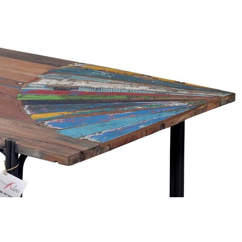 Table Basse Bois Bateau Recycl
