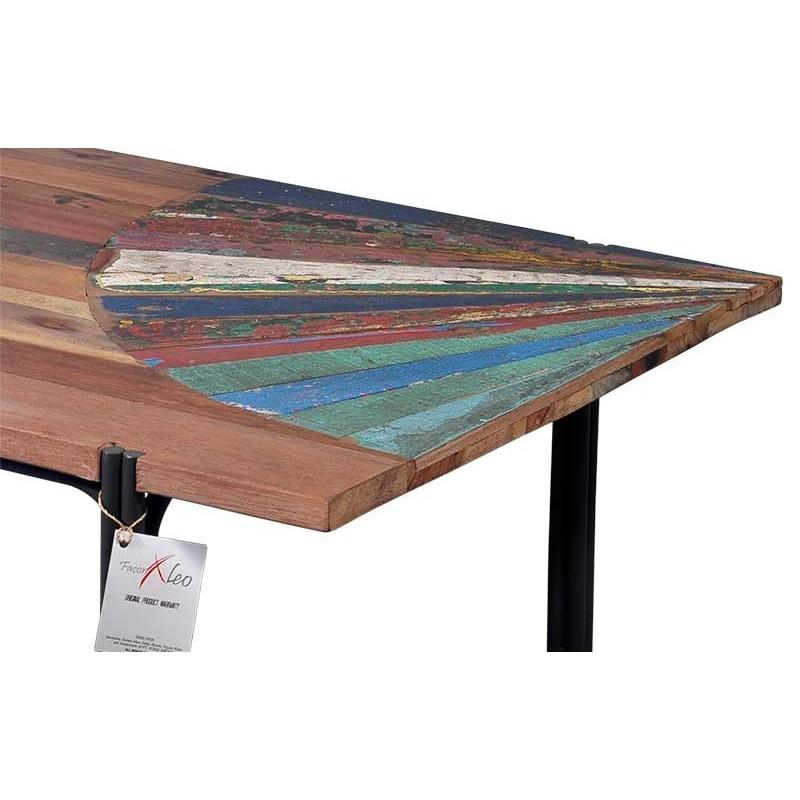 originale table basse en bois de bateau recycl livraison gratuite. Black Bedroom Furniture Sets. Home Design Ideas