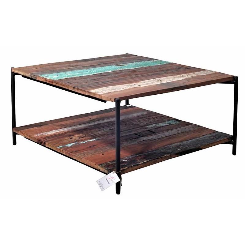Table basse avec helice bateau - Table basse carree bois et fer forge ...