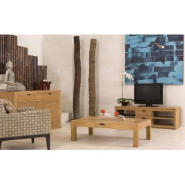 table basse City teck Naturel en 140