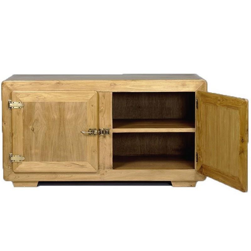 buffet bas 2 portes en teck naturel pas cher en vente chez origin 39 s meubles. Black Bedroom Furniture Sets. Home Design Ideas
