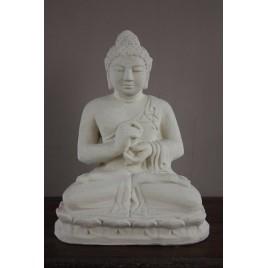Bouddha méditation blanc