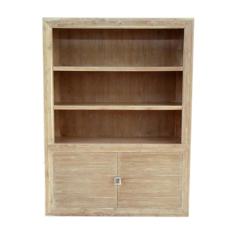 biblioth que teck bross blanchi de chez origin 39 s meubles. Black Bedroom Furniture Sets. Home Design Ideas