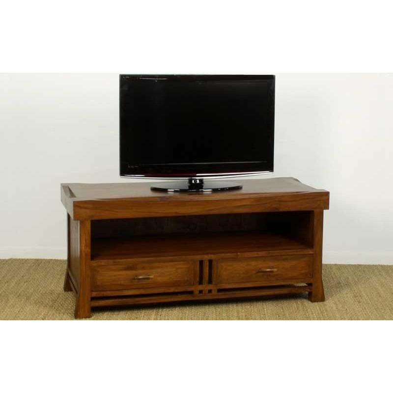 meuble tv 2 tiroirs japan en teck origin 39 s meubles. Black Bedroom Furniture Sets. Home Design Ideas