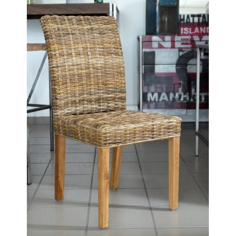 Chaise en rotin tress en vente chez origin 39 s meubles for Chaises en osier tresse