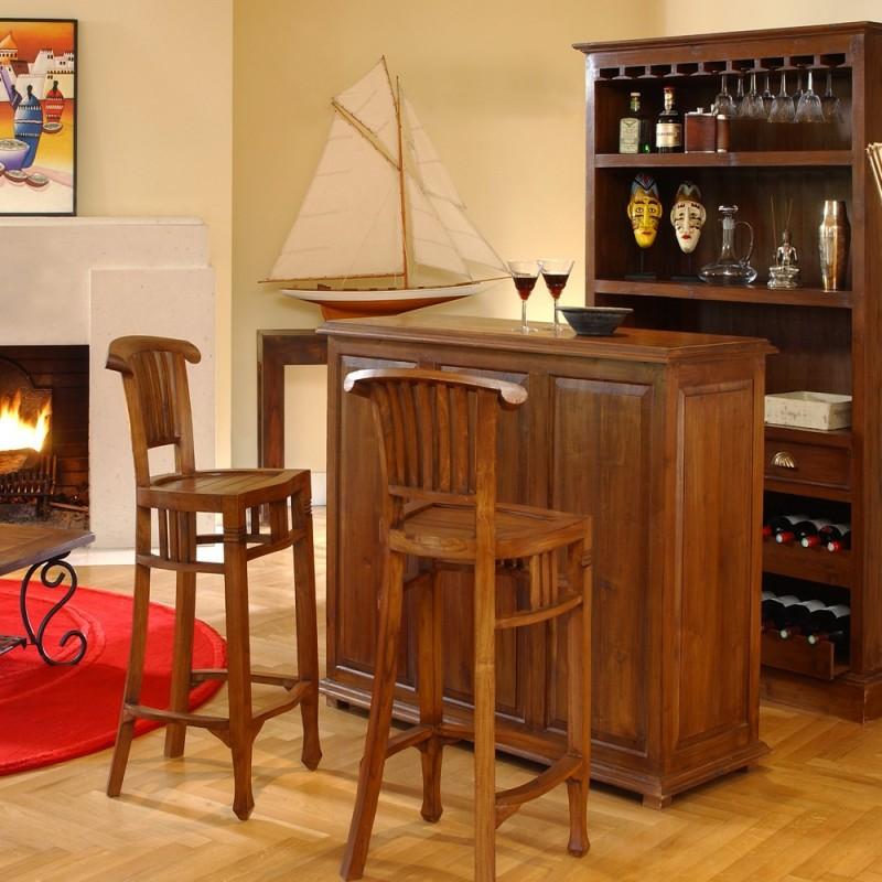 tabouret de bar en teck pas cher en vente chez origin 39 s meubles. Black Bedroom Furniture Sets. Home Design Ideas