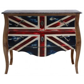 Commode en teck Dubarry GM 2T Drapeau Anglais