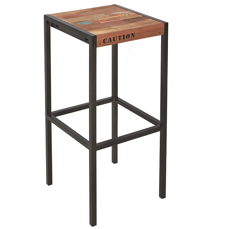 Tabouret De Bar Metal Et Bois.Tabouret De Bar Industriel Factory Samudra Metal Et Bois Recycle
