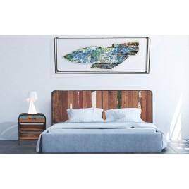 Tête de lit esprit industriel Vintage 160 cm
