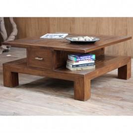 Table basse teck carrée Agra