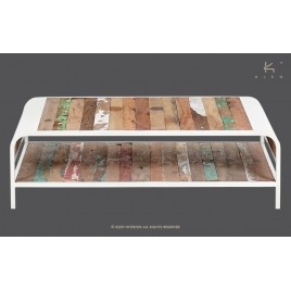 N°4.5AK21 - Table basse Industrielle Alaska rectangulaire