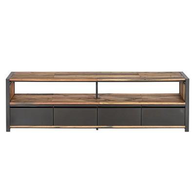 Meuble TV industriel 4 tiroirs Newport 180 cm
