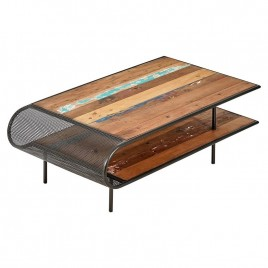 Table basse industrielle Aru 120 cm