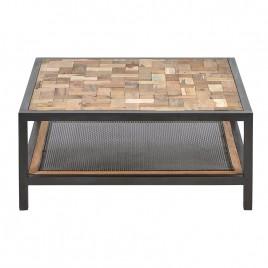 Table basse industrielle carrée Atelier